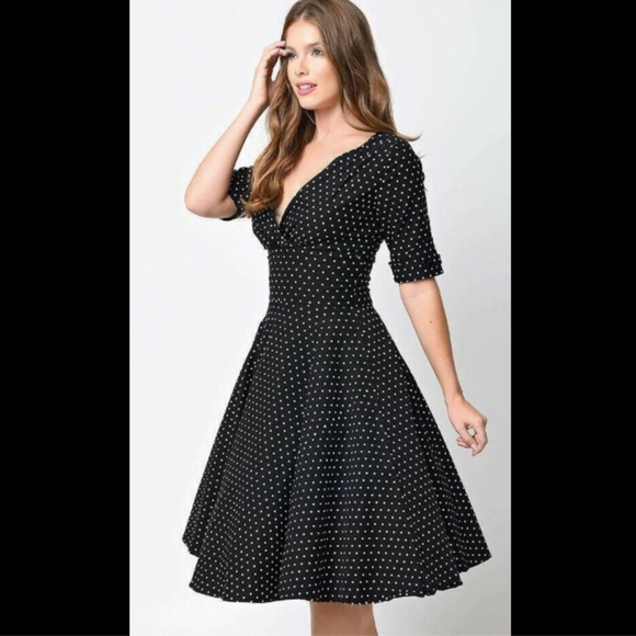 a91991ffdf6c4 Unique Vintage Dresses | 1950s Polka Dot Delores Swing Dress | Poshmark